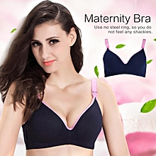 2c270747a48 Cotton Feeding Maternity Nursing Bra Sleep Bras For Nursing Pregnant Women  (Navy 80B)