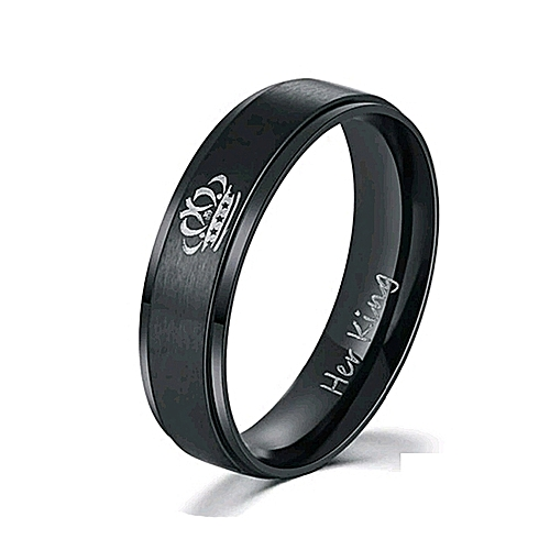 Titanium Ring - Black R544 King