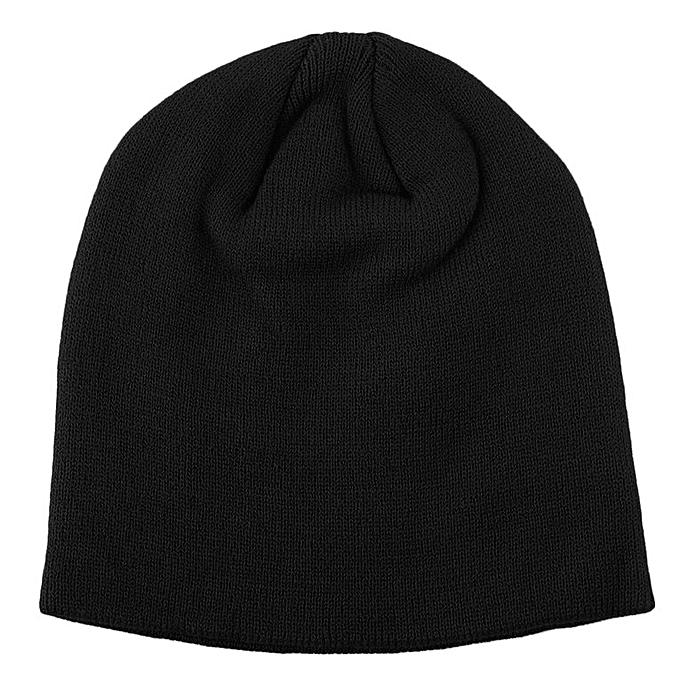 Fashion Soft Knitted Beanie Hat Winter Warm Hat Unisex Men Women Ski Cap  black 138daa268fb