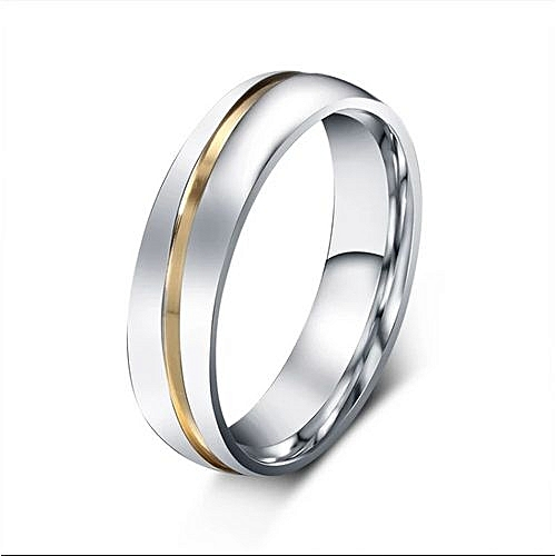 TRGL08 Titanium Ring with Gold Lining - Silver