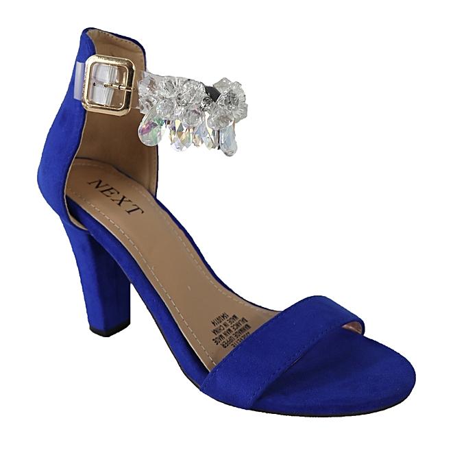 b3c2d406615 Next Embellished Ankle Strap Block Heel Sandals - Blue