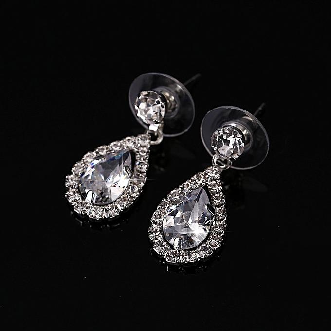 Buy Fashion Shining Silver Plated Bride Wedding Necklace