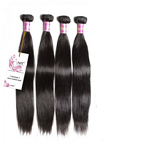 "Pure Virgin Malaysian Human Hair - 4 Piece - 20"" - Natural Black"