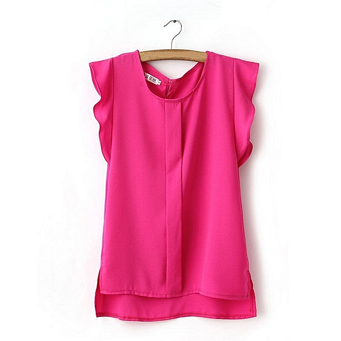 0b09f2d24b798 White Label Chiffon Top - Pink