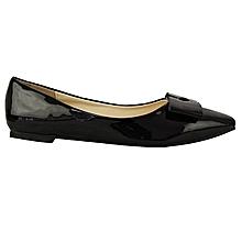 131133506f8 Patent Ballerina Flats - Black