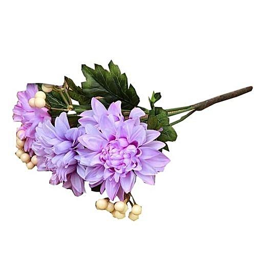 Bouquet Ivory Dahlia Fake Silk Flower Fake Flower Wedding Home Decor Bouquet