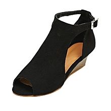 9a0bbc6e1a16c Blicool Shoes Women  039 s Shoes Platform Wedge Sandals Ankle Strap Peep  Toe High