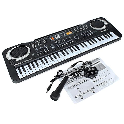 buy generic 61 keys digital electronic keyboard black white online jumia ghana. Black Bedroom Furniture Sets. Home Design Ideas