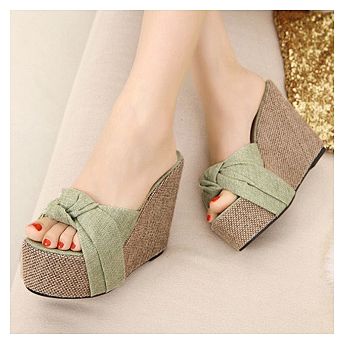 5890290f0e4 FASHION 2018 Summer Women Platform Sandals High Heel Women Beach Flip Flops Wedge  Shoes