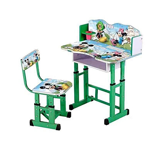 Buy White Label Kids Study Table & Chair Set - Green @ Best Price ...