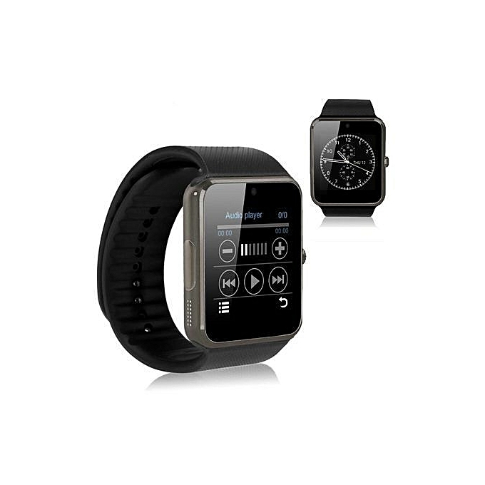 buy white label w 86 single sim smart watch phone black. Black Bedroom Furniture Sets. Home Design Ideas