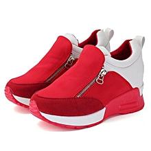 46e9c9c3f2888a New Casual Women  039 s Sneakers Zip Wedge Hidden Heel Running Sport Shoes  Trainers