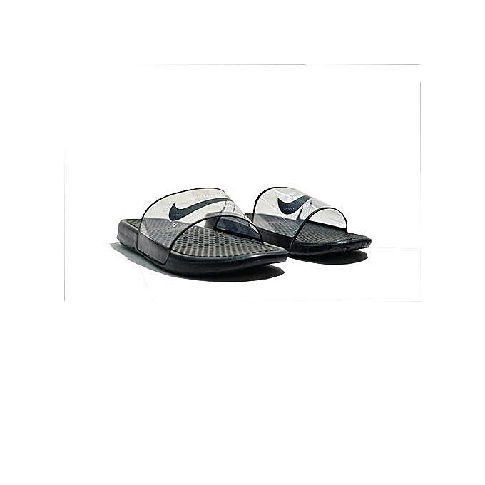 445792cbc Nike Benassi Jdi Flip Flops Slides - Black White