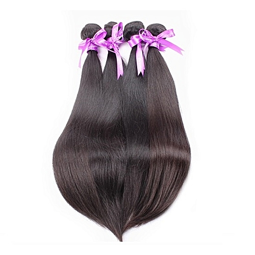 "Pure Virgin Indian Human Hair Weave - 4 Piece - 22"" - Natural Black"