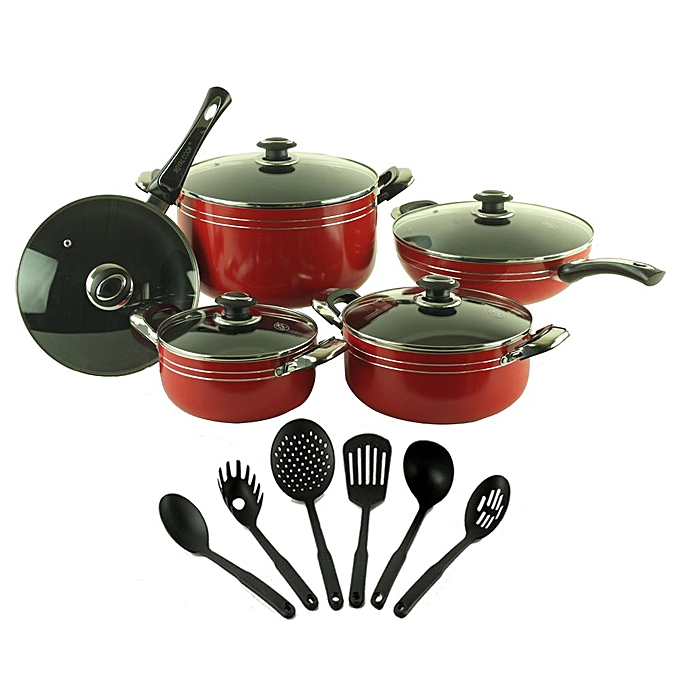 Non Stick Kitchen Set With Price: White Label Non Stick Kitchen Cookware Set