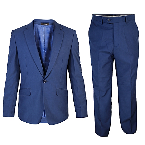 2-Piece Slim Fit Suit - Navy Blue