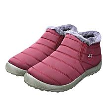 3a65c8c03a2c2d HOT Women  039 s Winter Warm Fabric Fur-lined Slip On Ankle Snow