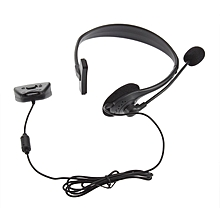 New Headset Headphone Earphone With Microphone Mic For Xbox 360-Black