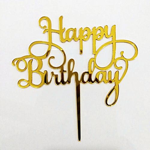 Generic Happy Birthday Acrylic Wooden Cake Topper Decor AUS Stock