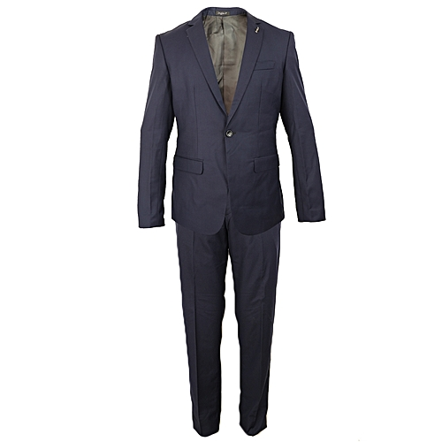 Long Sleeves Suit And Trouser - Dark Blue