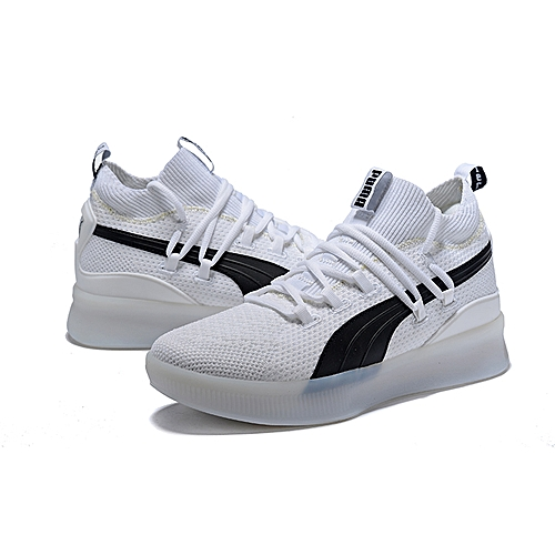 buy online eb70c a3014 Buy Puma Clyde Court Low Top Sneakers - White/Black online ...