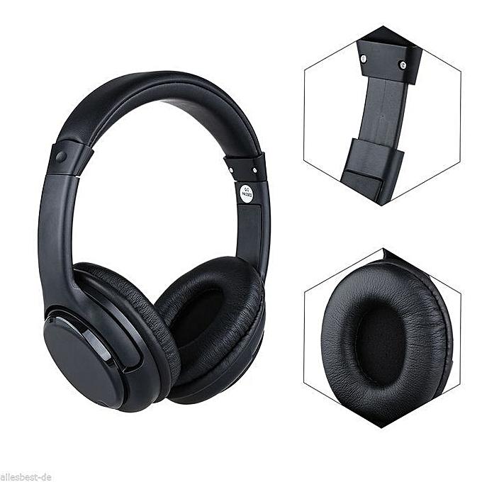 buy white label over the ear wireless headphone black best price online jumia ghana. Black Bedroom Furniture Sets. Home Design Ideas