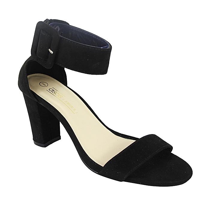 2f59459f806 Asos Ankle Strap Block Heel Sandals - Black