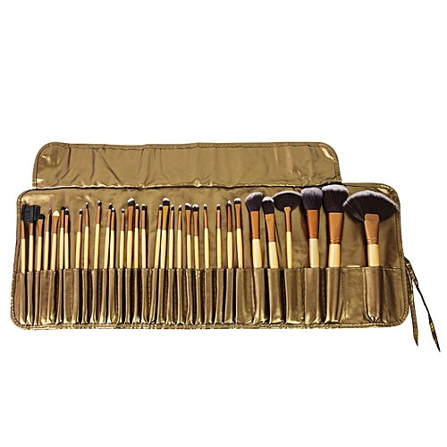 Make-Up Brush Set - 32 Pieces + PU Bag