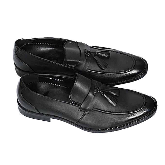 26f41221b8c White Label Leather Tassel Shoes - Black
