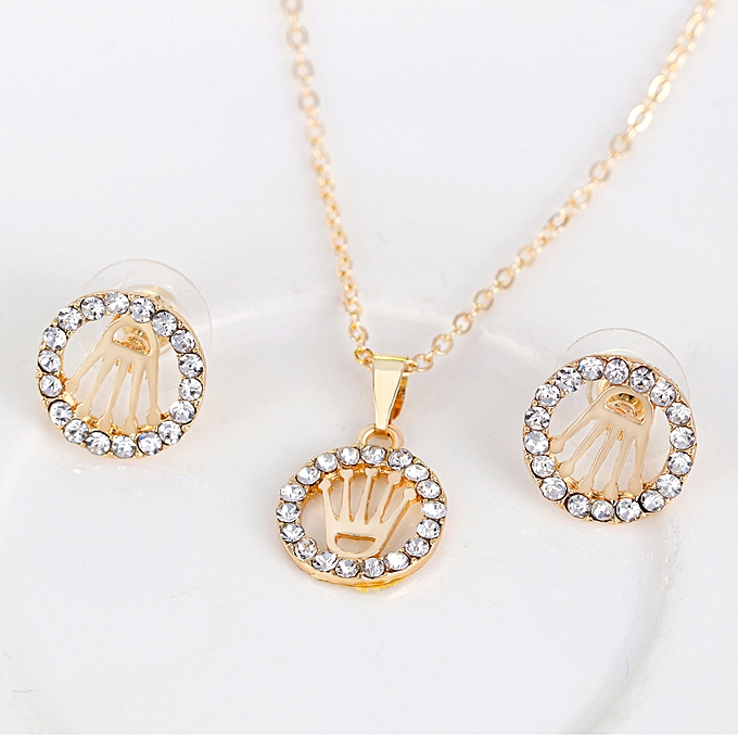 Fashion Wedding Necklace Earrings Ring Bracelets Jewelry