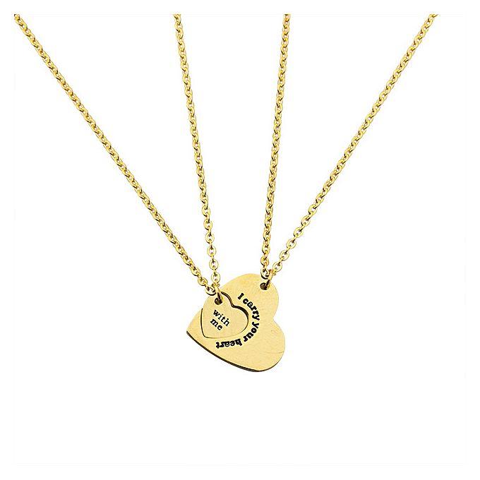 White label couples pendant necklace set gold buy online couples pendant necklace set gold mozeypictures Choice Image