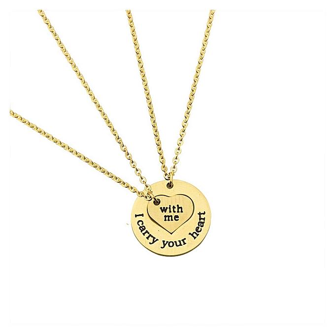 Buy white label couples pendant necklace set gold best price couples pendant necklace set gold aloadofball Images