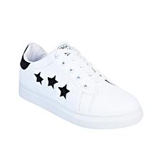 fd17f2f6e21 Star Glitter Low Top Sneakers - White Black