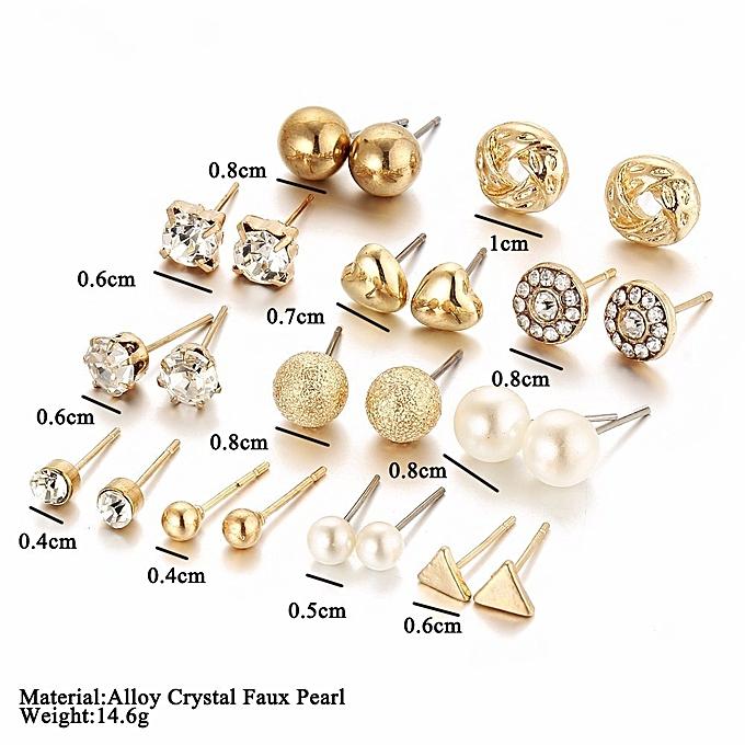 Buy Generic Women Fashion Wedding Zircon Love Earring Set