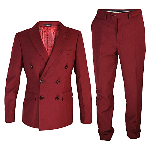 2-Piece Slim Fit Tuxedo - Wine Red