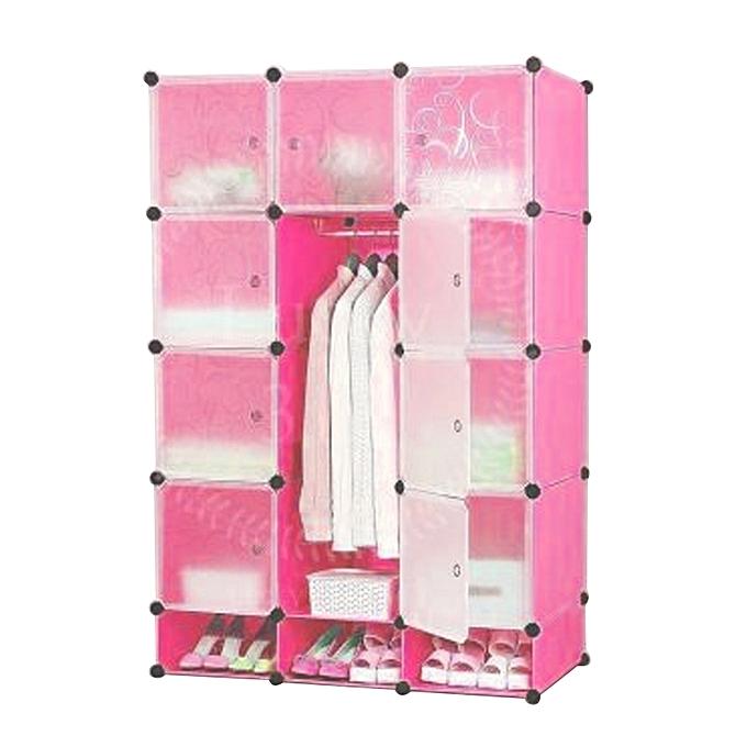 White 6 Cube Kids Toy Games Storage Unit Girls Boys: Buy White Label 12 Cube Wardrobe With Shoe Rack