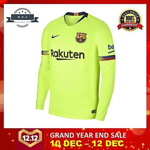 new product 3a545 97812 Buy Generic 18/19 Thailand Barcelona Away kit Long Sleeve ...