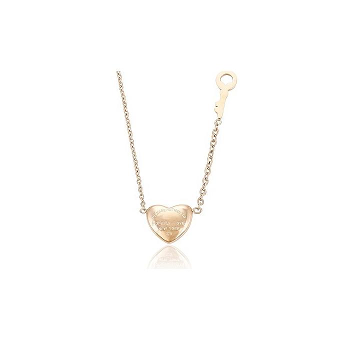 24k Gold Heart Pendant Necklace