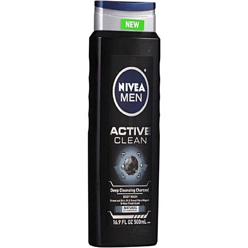 Active Clean Deep Cleansing Charcoal Body Wash   500ml