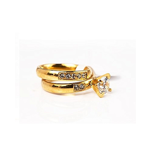 Wedding Ring Set - Gold