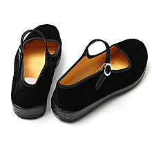 81d2512996a Women Ladies Ballerina Ballet Boat Shoes Mary Jane Work Velvet Rubber Flats