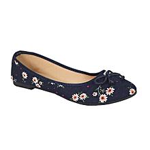 897ebc442b5 Flora Print Ballerina Flat Shoes - Blue Multicolour