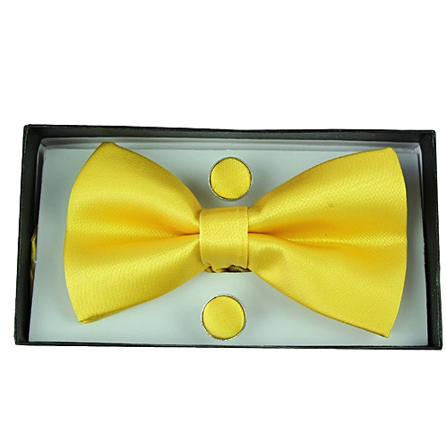 Plain Bowtie Set - Yellow