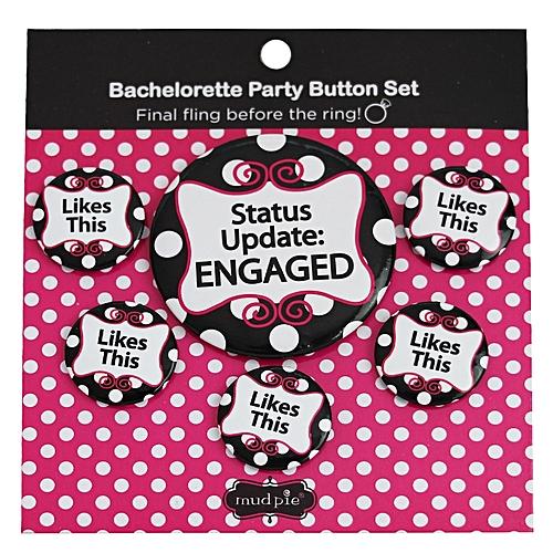 Bachelorette Party Button Set - 6 Pieces