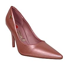 8ffb8e65e31 Pointed Toe Heel Shoes - Rose Gold
