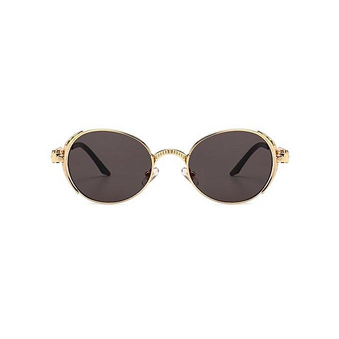 e0903fa643 ... Steampunk Sun Glasses Men Gold Frame Metal 2018 Oval Sunglasses Men  Steampunk Women Uv400-Gold ...