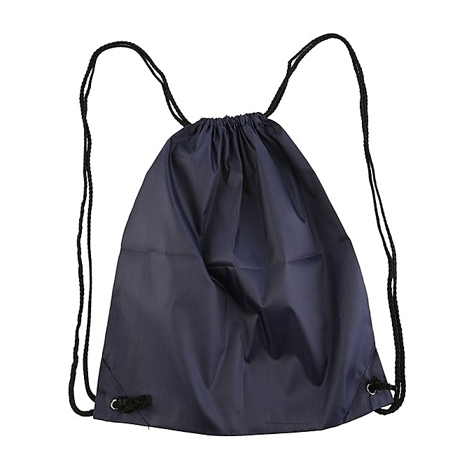 70316b2cf01d Premium School Drawstring Duffle Bag Sport Gym Swim Dance Shoe Backpack  Deep blue