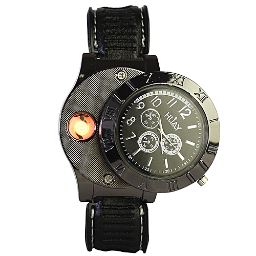 Buy Huiay Classic Lighter Wrist Watch for Smokers - Black