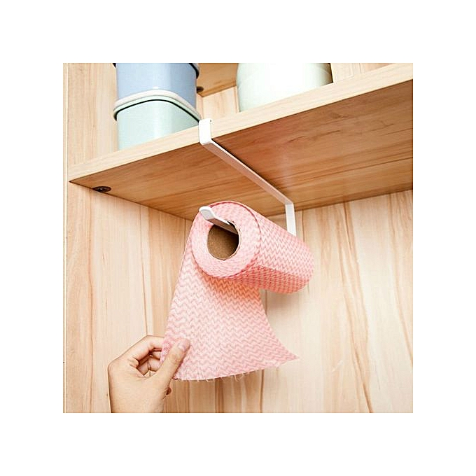 2pcs Paper Towel Holder Dispenser Under Cabinet Paper Roll Holder Rack Without Drilling For Kitchen Bathroom Bathroom Fixtures Bathroom Hardware