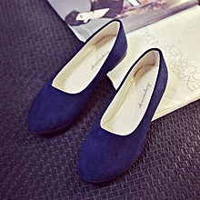 a6b9ec5c444 Stylish Autumn Suede Office Lady Flat Working Shoes